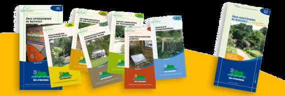 Flyer Übersicht Projekt-Flyer, Image-Flyer und Radtour-Flyer mit Radkarte
